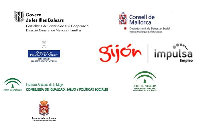 logotipos granada, asturias y palma