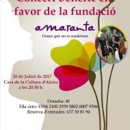 Cartel concierto bénefico en Valencia